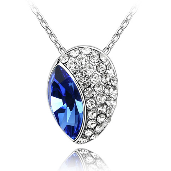 Simple design noble jewelry pendant necklace Crystal From Swarovski