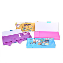 New style double sided big capacity magnetic plastic pencil box