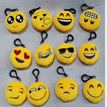 Wholesale emoji keychain custom fabric keychain cheap keychain