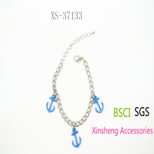 new design chain bracelet silver chain bangle with charm