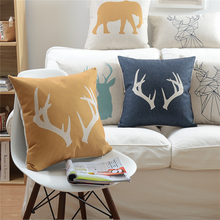 Home Textile animal wholesale decorative pillow covers linen cushion cover