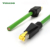 Industrial RJ45 ethernet cable fire resistant shielded 4 pole cat6 network patch cord