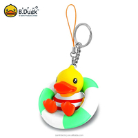Good quality hot sale rubber pvc swimming sult keyrings