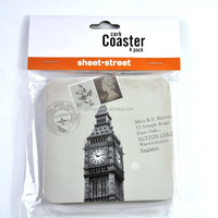New products Factory manufacture England 4 pcs set beer bar cardboard cork coaster