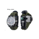 Dropship DS-SG1010 New Design hiking travel waterproof multifunctional outdoor bracelet paracord survival watch