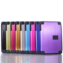 High quality PC material case stick aluminum phone shell foldable back covers for ipad5