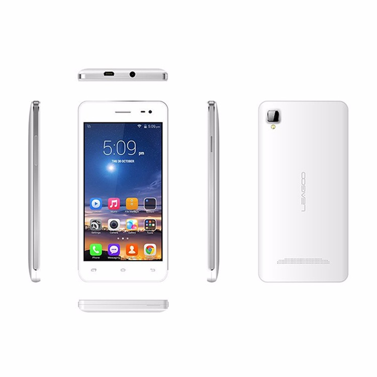 Original LEAGOO LEAD 6 Mobile phone MTK6572 Dual Core 2.0MP+5.0MP GSM WCDMA 4.5 Inch IPS Android 4.4 KitKat 512MB RAM 4G ROM
