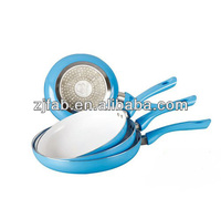 Eco blue Aluminum non-stick induction based cookware set 4pcs