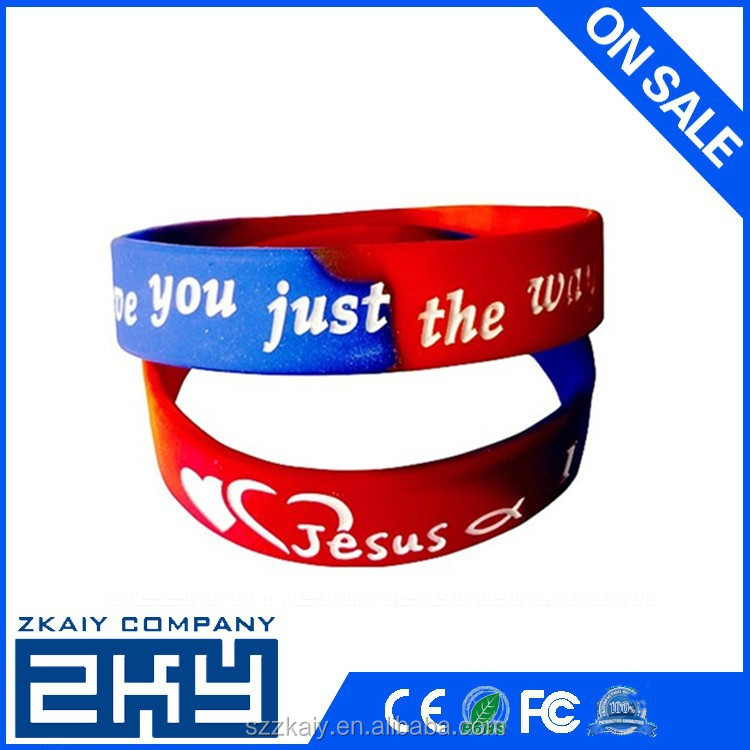 Quality custom rubber bracelet make your own wristbands silicone