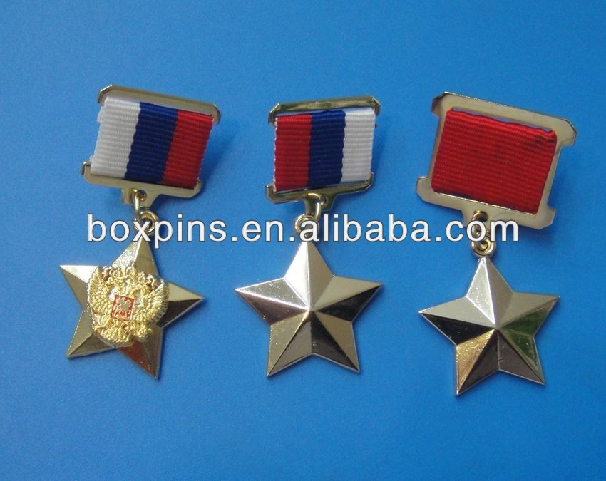 RARE Soviet Russian USSR WW2 Hero of Socialist Labor GOLD STAR Badge Order Medal