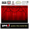 Inherengtly flame retardant velour stage curtain for theater