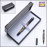 China supply heavy promotional dragon metal roller pen with gift box for boss