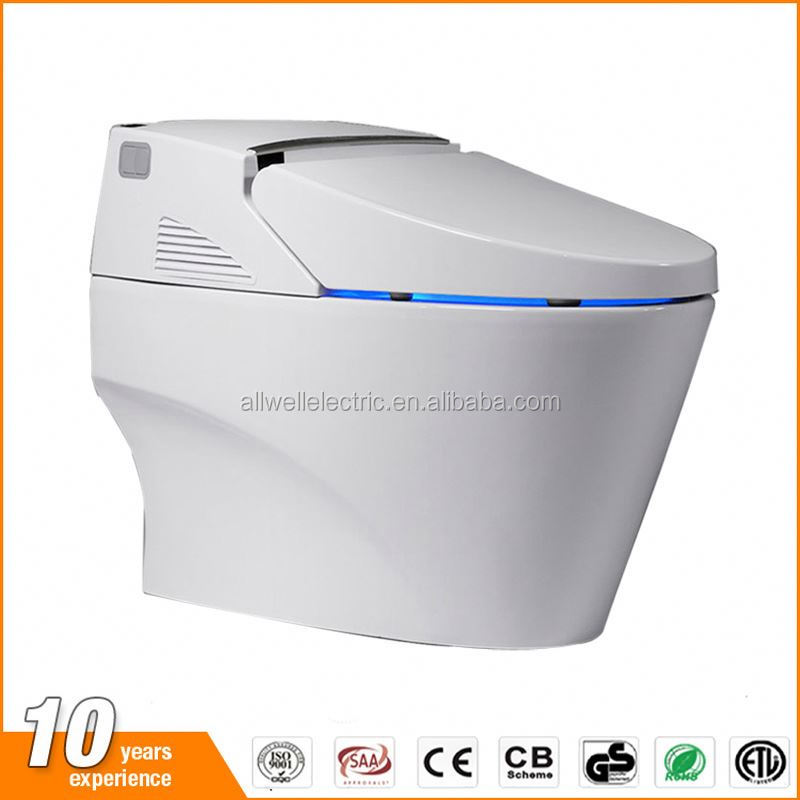 Temperature adjustable floor mounted bathroom wc toilet with night light