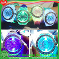 Girl flashing light up LED watch