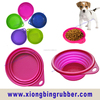 Food standard Silicone pet bowl