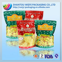 custom printed Disposable Paper 3 sides sealed chips packaging bags