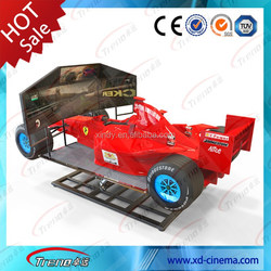 Red flash designed for man 6dof motional racing car ferrari