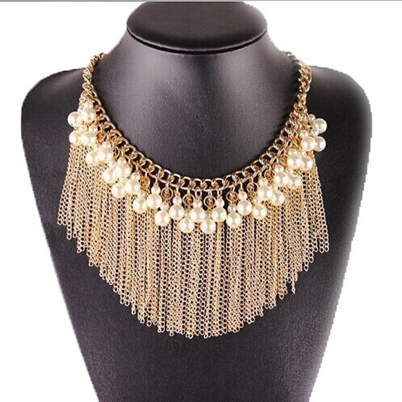 New Hot Long chain Tassel Necklace Wholesale Pearl Necklace In Stock
