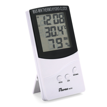 Indoor digital temperature humidity meter TA368 with clock display 0~+50C