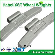 no-lead fe clip on balancing wheel weight