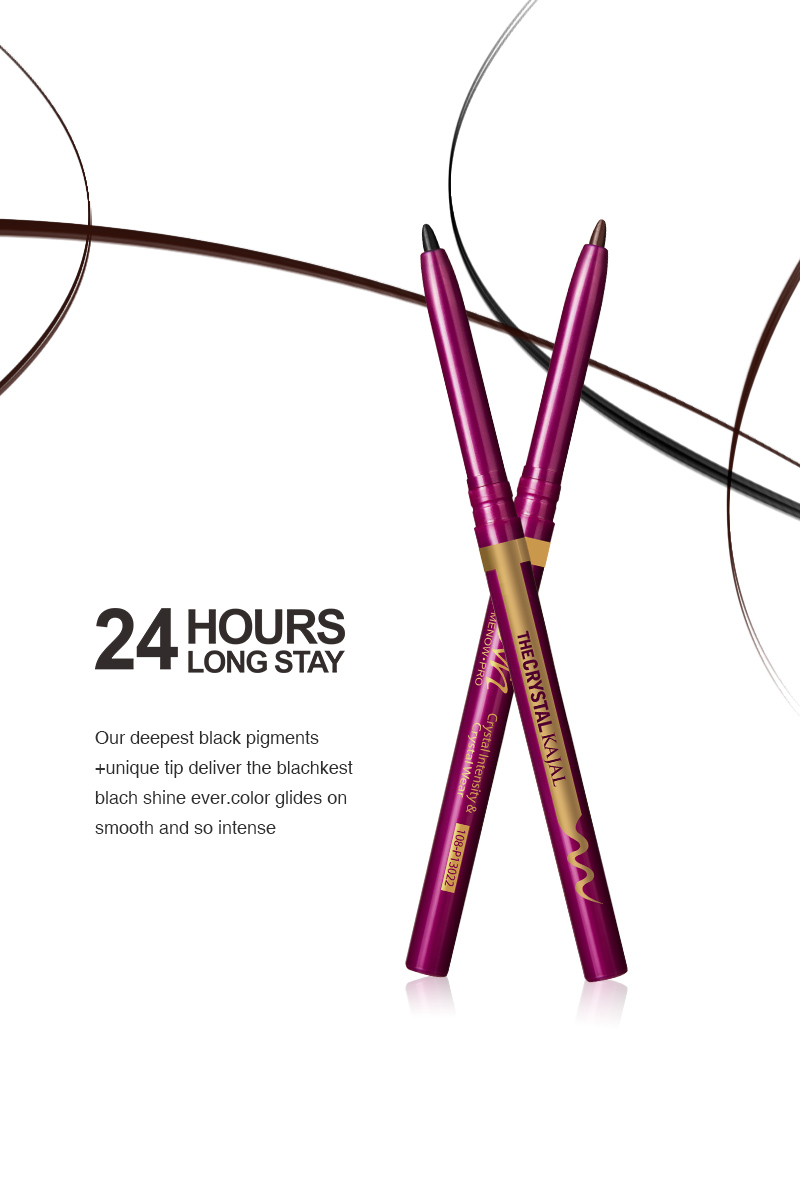Menow P13022 Cosmetics Eyeliner 24 hours Long Stay Kajal Liner