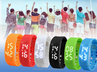 hot seller ! high quality 3D sport Silicone wrist smart watch with Calorie and Pedometer