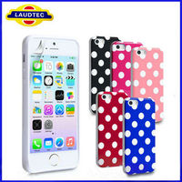 2013 Hot Selling For Apple iPhone 5S Polka dots Soft TPU Silicone Gel Case Cover Skin,2013 New -----Laudtec
