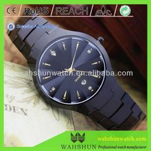 WAH SHUN tungsten watch hot selling japan movt quartz watch stainless steel back