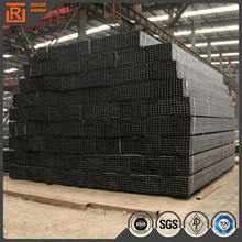 Structural rectangular tube steel dimensions, prime standard 16mn black welded steel pipe