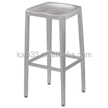 2016 China aluminum kitchen bar chairs with footrest