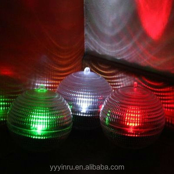Auto Lighting System solar powered rechargeable dry battery led light balls in water
