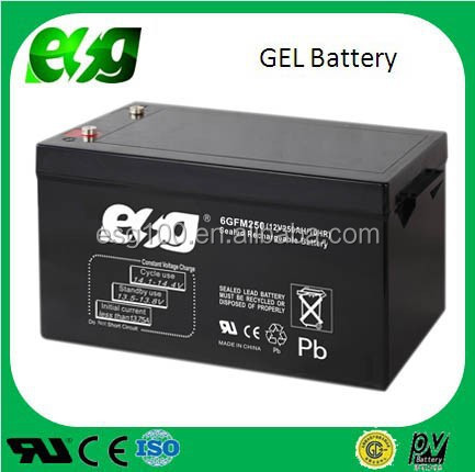 Dry charge 12V 250AH solar battery ,UPS battery maintenance free battery for solar system