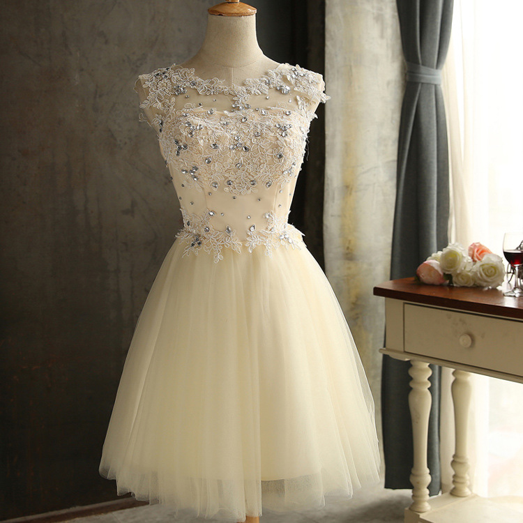 JS 24 Low Moq Champagne Wedding Gown Lace Bridesmaid Dress Patterns Free Shipping 002