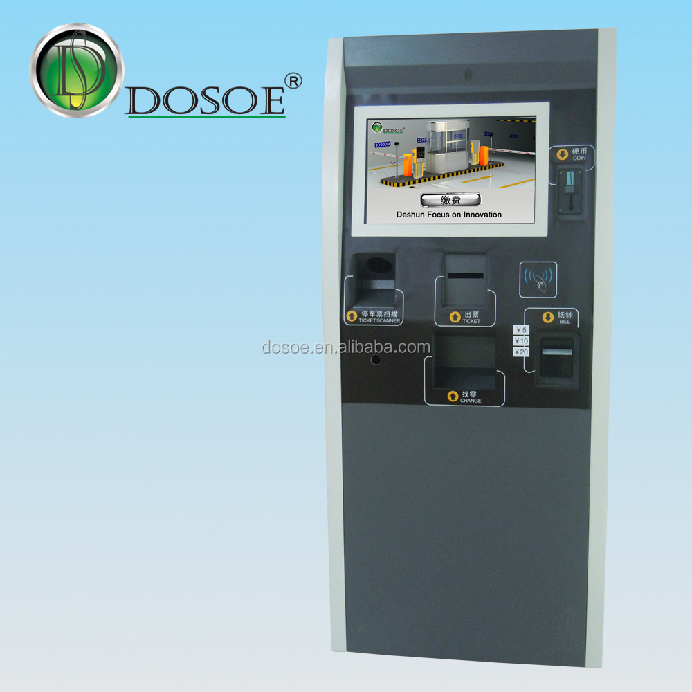 Dosoe Parking Payment Kiosk/Self Service Payment Kiosk For Managing Parking Collection Change