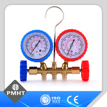 air conditioner accessories double meter gauge assembly refrigerant pressure gauge