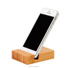 Sample and useful bamboo mobile phone stand holder for cell phone