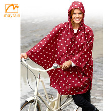 2018 high quality polyester rain cape bicycle waterproof rain cover rain poncho