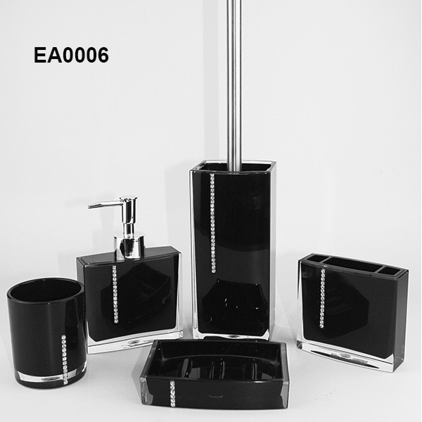 EA0006 china wholesale 4pcs acrylic crystal bath accessories