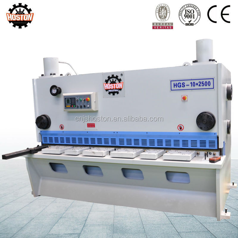 Hoston brand sheet metal Guillotine shearing machine with pneumatic back support device opptional