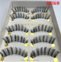 2015 best quality popular hand-tied natural fake eyelash 11mm long 5 pairs/lot upper lashes