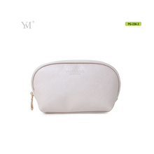 2017 hot popular leather make up bag,white leather cosmetic pouch bag