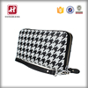 New popular fashion design black white zebra color Lady's Clutch Long Purse Leather Wallet