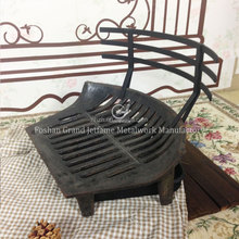 Fireplace Accessories Cast Iron Fire Grate Large Black Log Coal Fireside Fireplace