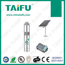 TAIFU 3TSS battery operated 316 stainless steel brushless motor low price 3'' solar powered water pump control system
