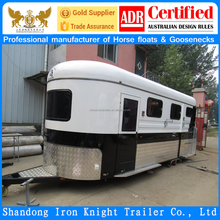China imported 2 horse angle load horse float with living area