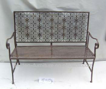 factory wholesale handmade crafts floral decorative wrought iron garden outdoor table and chairs