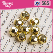 Garment Accessories 10mm Rivet AB Color Half Pearl