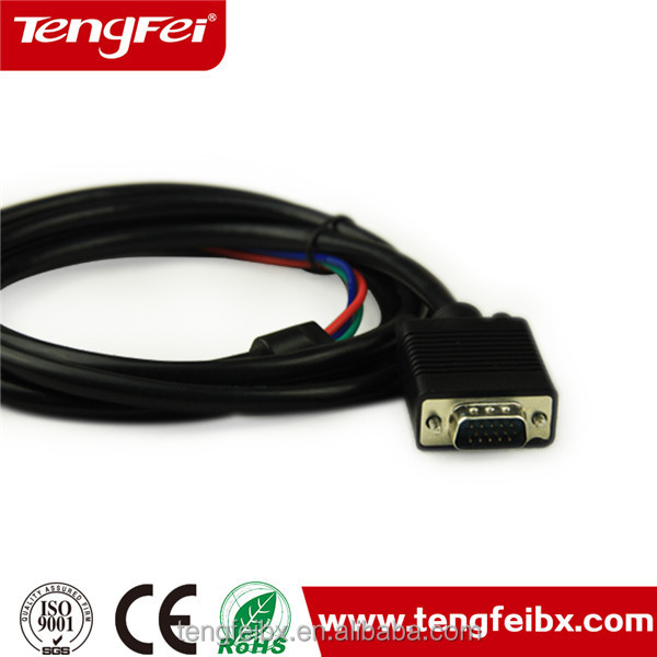 High quality db15 din cables to rca,vga to rca cable color custom