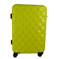 Bright Yellow ABS PC Luggage Diamond Pattern Wheeled Luggage Bag
