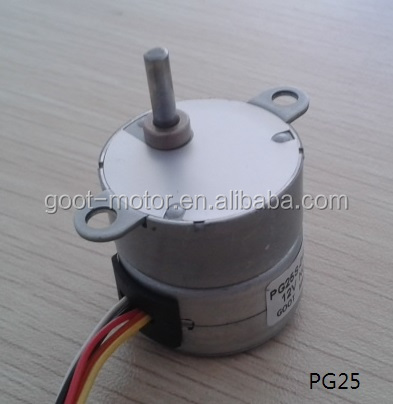 Gear Ratio 1 30 25mm Small Stepper Motor With Gearbox